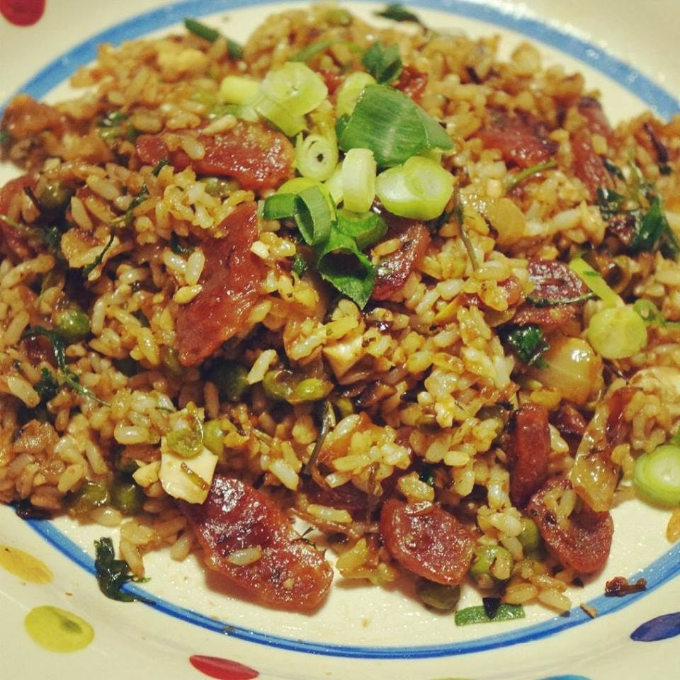 Fried rice with sausage and egg for Ted s fish fry menu