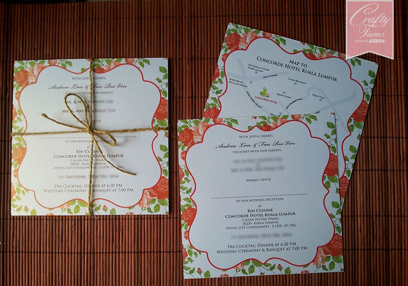 Rose Theme Chinese Wedding Cards in Malaysia