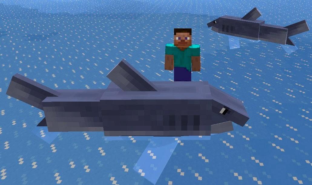 Mo' Creatures tiburones Minecraft mod