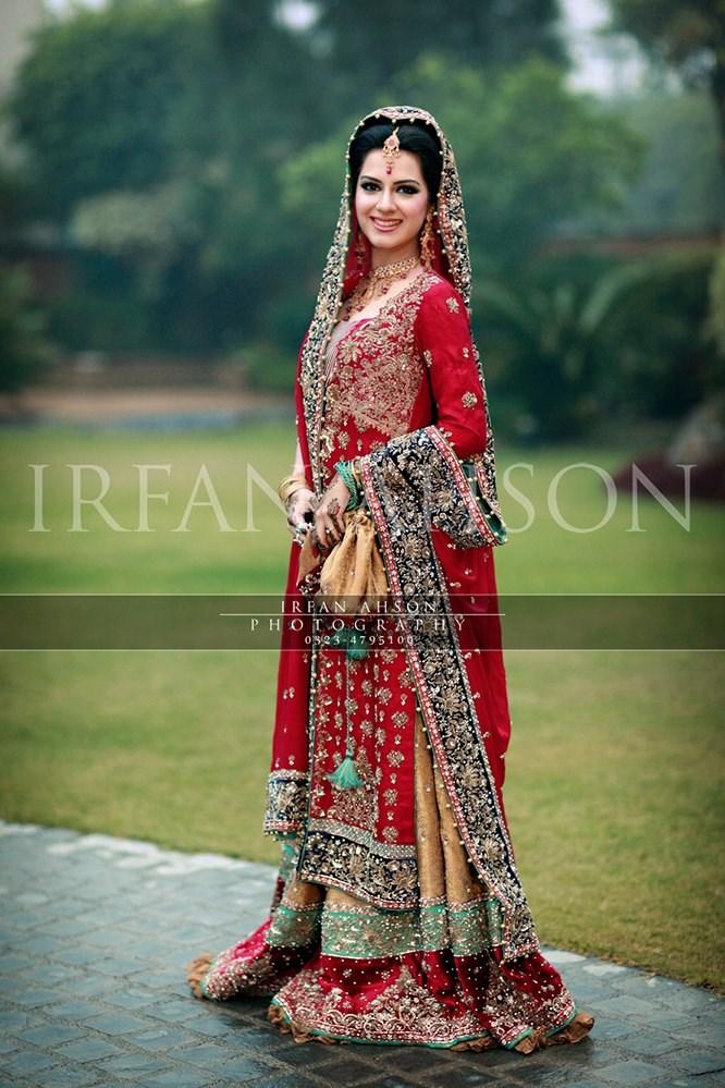 Top 10 Pakistani Red Color Bridal Dresses 2016 Pak Fashion