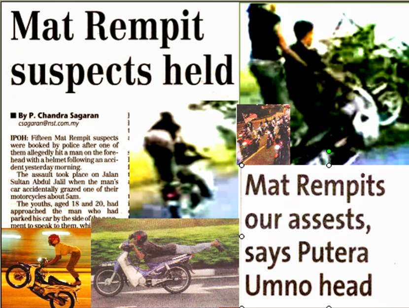 essay about mat rempit 31 definition ex-director of dbp (dewan bahasa dan pustaka), noresah baharum once saidfrom her previous research the mat rempit origin name is taken from ramp and itword utusan malaysia (2008)ramp means behave violently, as a lion stood up by the back of his feet.