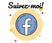 Cliquez sur l'icône pour me suivre sur Facebook!