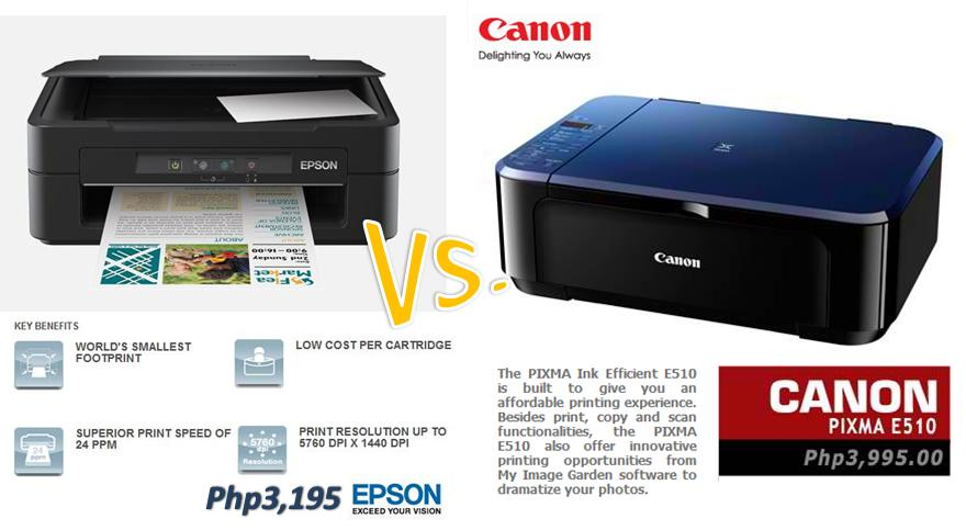 Latest Epson ME101 and Canon E510 Ink Efficient AiO Printer Specs