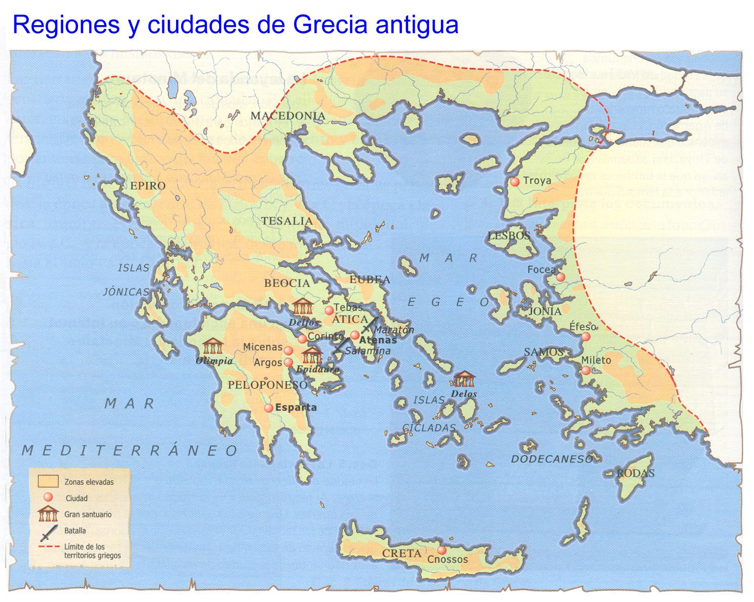 Circuito Grecia : Circuito grecia mapa