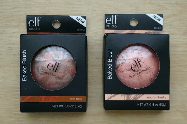 e.l.f. Studio Baked Blush in Rich Rose and Peachy Cheeky