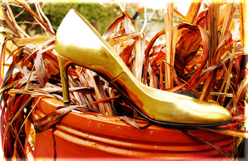 Psynopsis Bruno Frisoni Gold Shoes