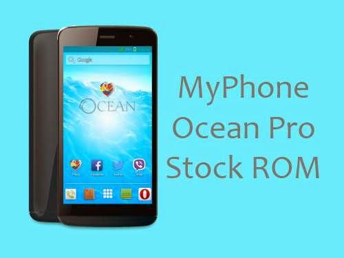 myphone ocean pro stock rom