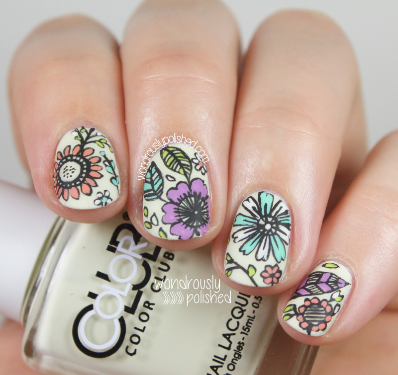 Wondrously Polished: Guest Post for Very Emily - Intricate Floral ...