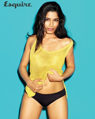 Frieda Pinto Hot Bikini Pics From Esquire Magazine