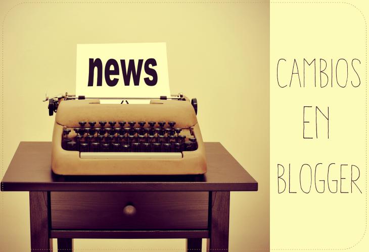 Cambios en las páginas de Blogger