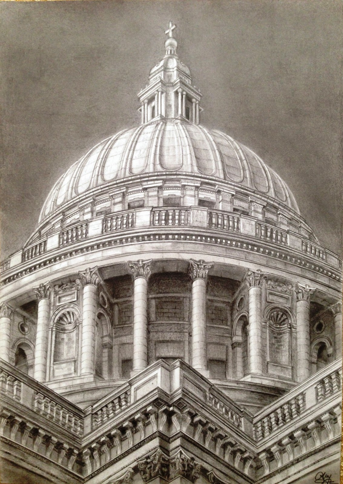 Architecture Drawing Pencil dreams of an architect: st. paul's cathedral - pencil drawing