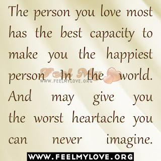 The person you love most has the best capacity