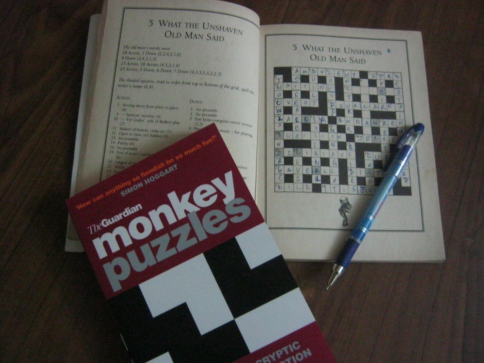 with a crossword clue :