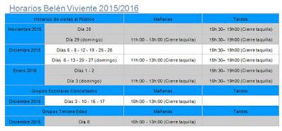 HORARIOS DEL BELÉN VIVIENTE DE BEAS 2015 - HUELVA - Juan Domínguez Ortega