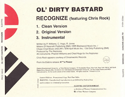 Ol' Dirty Bastard – Recognize (Promo CDS) (1999) (320 kbps)