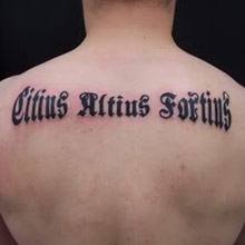Tattoo lettering images for Latin tattoo fonts