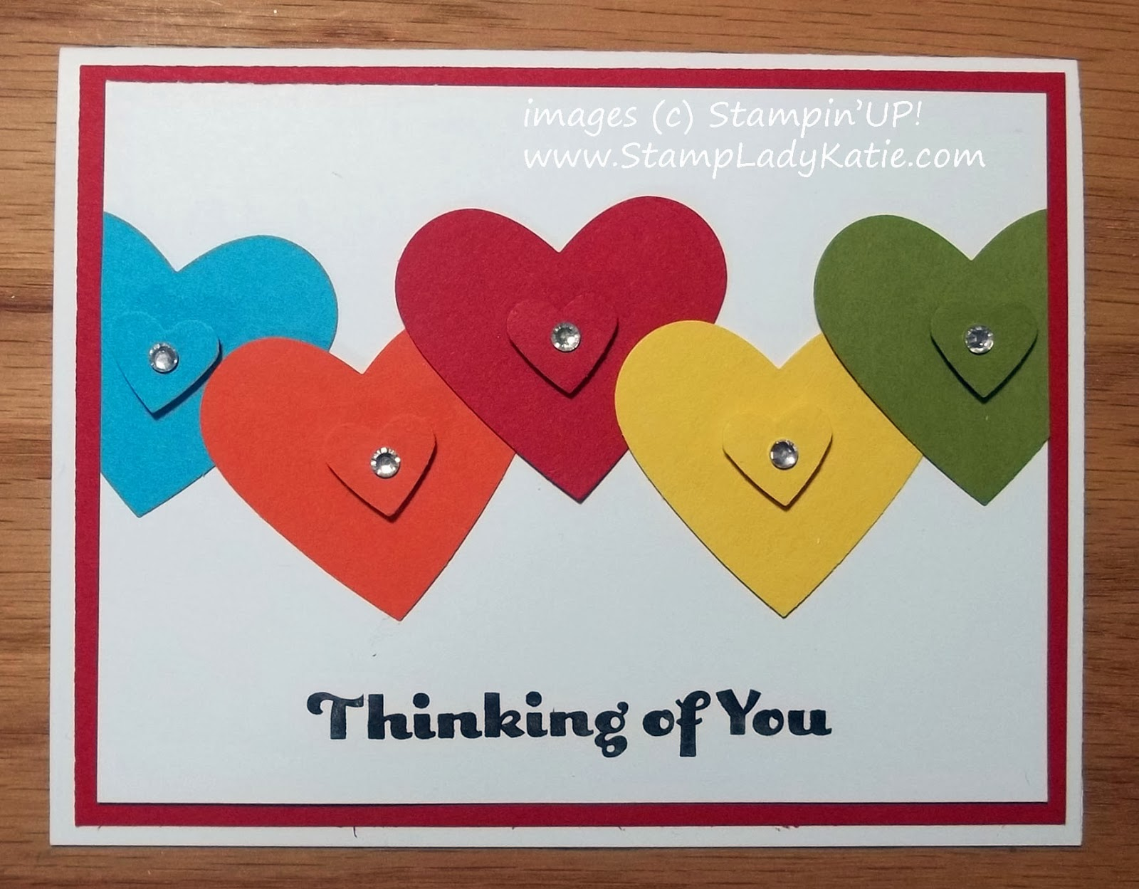 Valentine Card made with Stampin'UP! punches