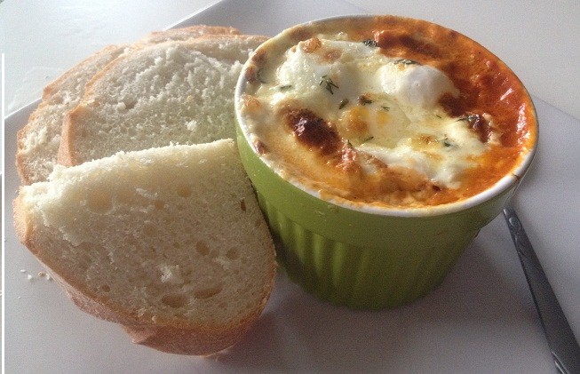 The Life Of Sunny Baked Eggs With Spicy Sweet Beans