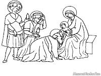 Mewarnai Gambar Kelahiran Tuhan Yesus