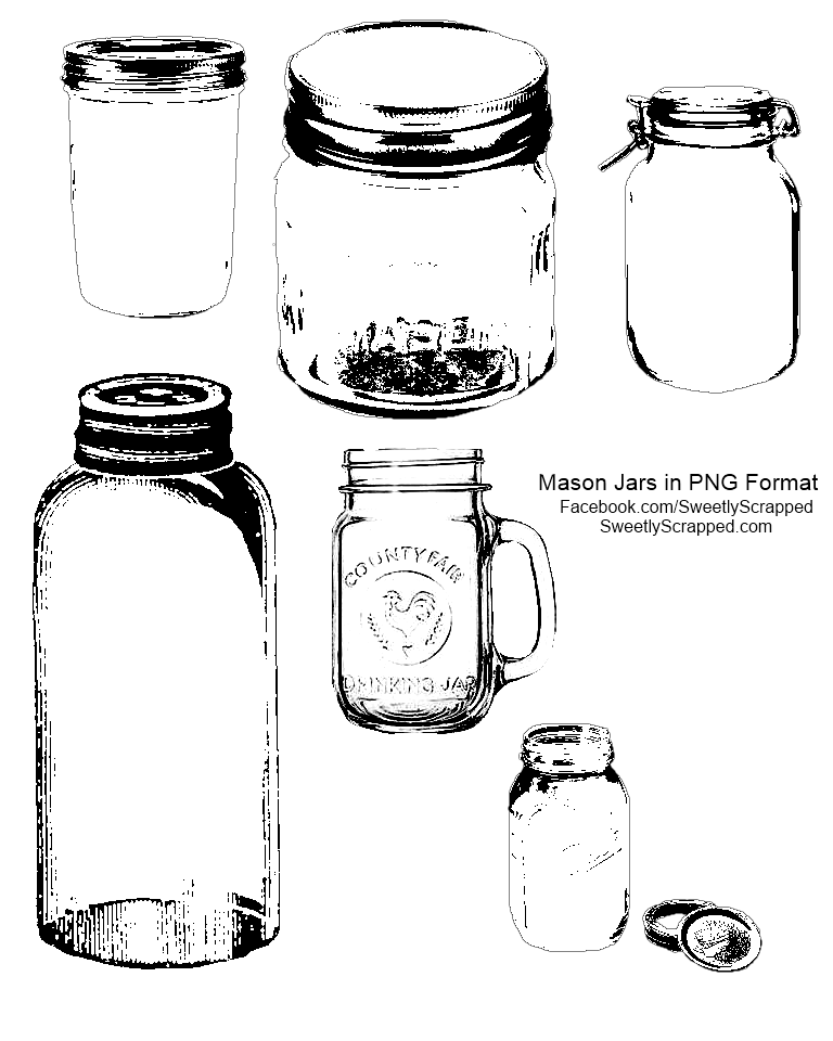 It's just a picture of Tactueux Printable Mason Jar