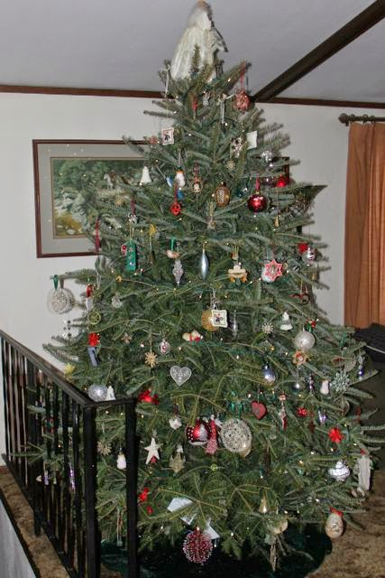Christmas tree all decorated, 2014