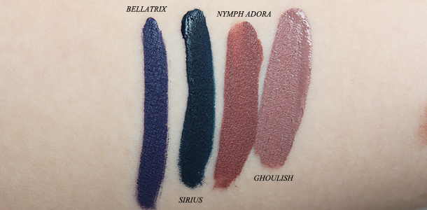 liquid lipstick la splash lipcouture mousse liptint smitten review swatch nagini sirius bellatrix nymphadora ghoulish