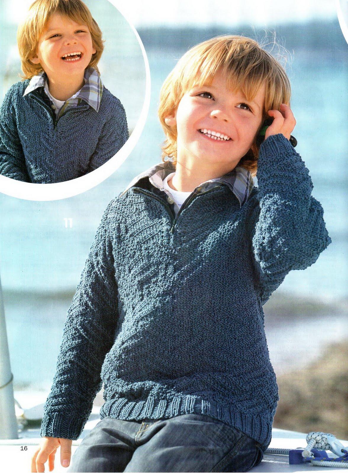 Вязание на спицах свитер на мальчика