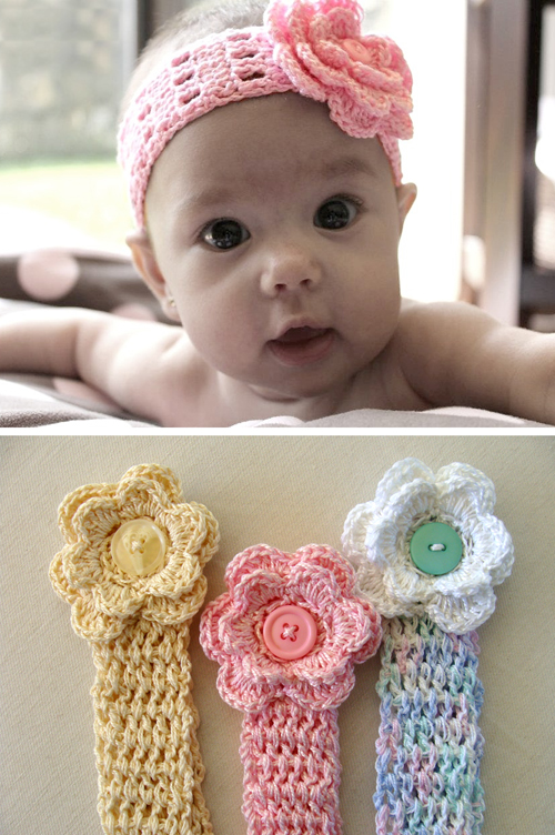 Beautiful skills crochet knitting quilting baby head band tutorial baby head band tutorial dt1010fo