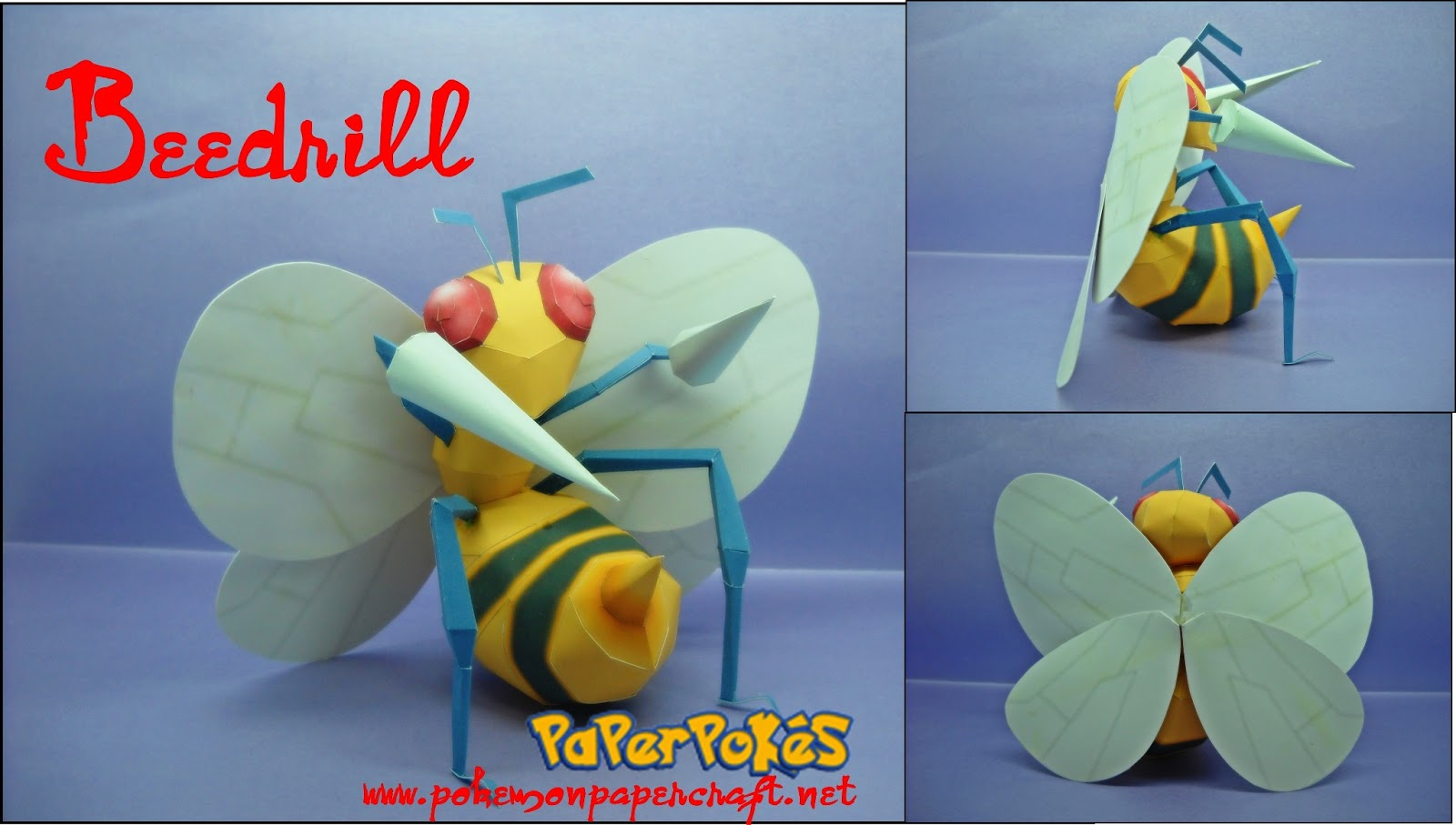 Pokemon Beedrill Papercraft