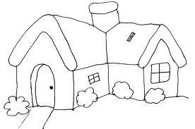 Desenho 3 - Casa para colorir.