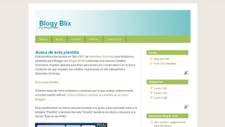Download Blix Blogger Template