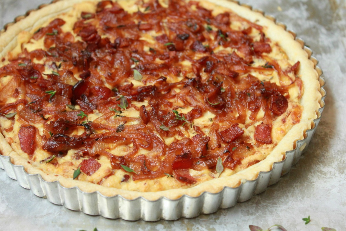 Bacon and Caramelized Onion Tart | Shauna Sever | The Next Door Baker