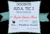 Insignia Docente Azul TIC.I