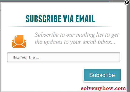 add email subscription popup blogger plugin