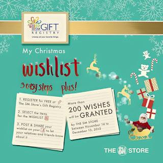 SM Gift My Christmas Registry Wishlist Promo, SM Store