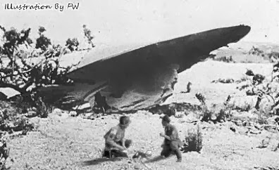 Roswell Saucer Crash with Dead Alien