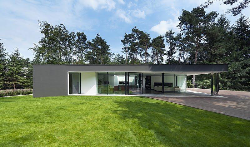 Casa unifamiliar minimalista proyectada por el estudio 123dv - Apartamentos dv barcelona ...