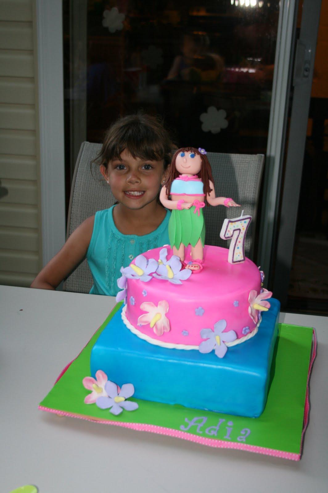 Cutebugdesigns Hula Girl Birthday Party
