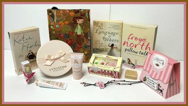 Birthday Giveaway 7 Books LOccitane Patisserie De Bain Gift Sets Bag Soap Necklace