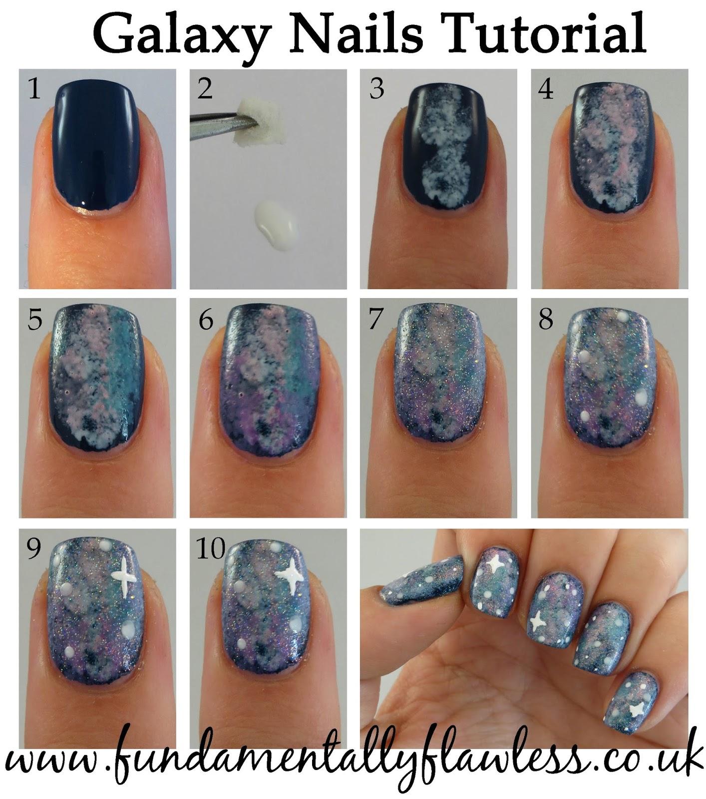 Galaxy Nails Tutorial: Fundamentally Flawless: Galaxy Nails Tutorial