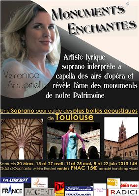"""""""Une soprano pour guide des plus belles acoustiques de Toulouse"""" 2013"""