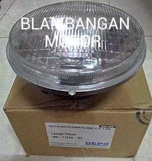 Reflektor/lampu depan autopal merk Depo Taiwan.