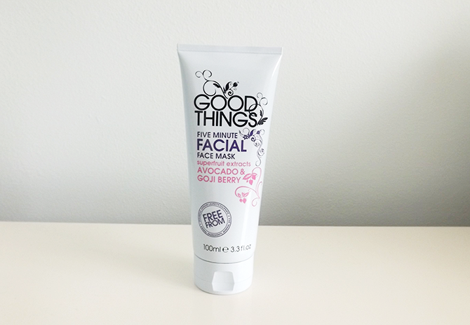 Good Things Five Minute Facial Mask Review