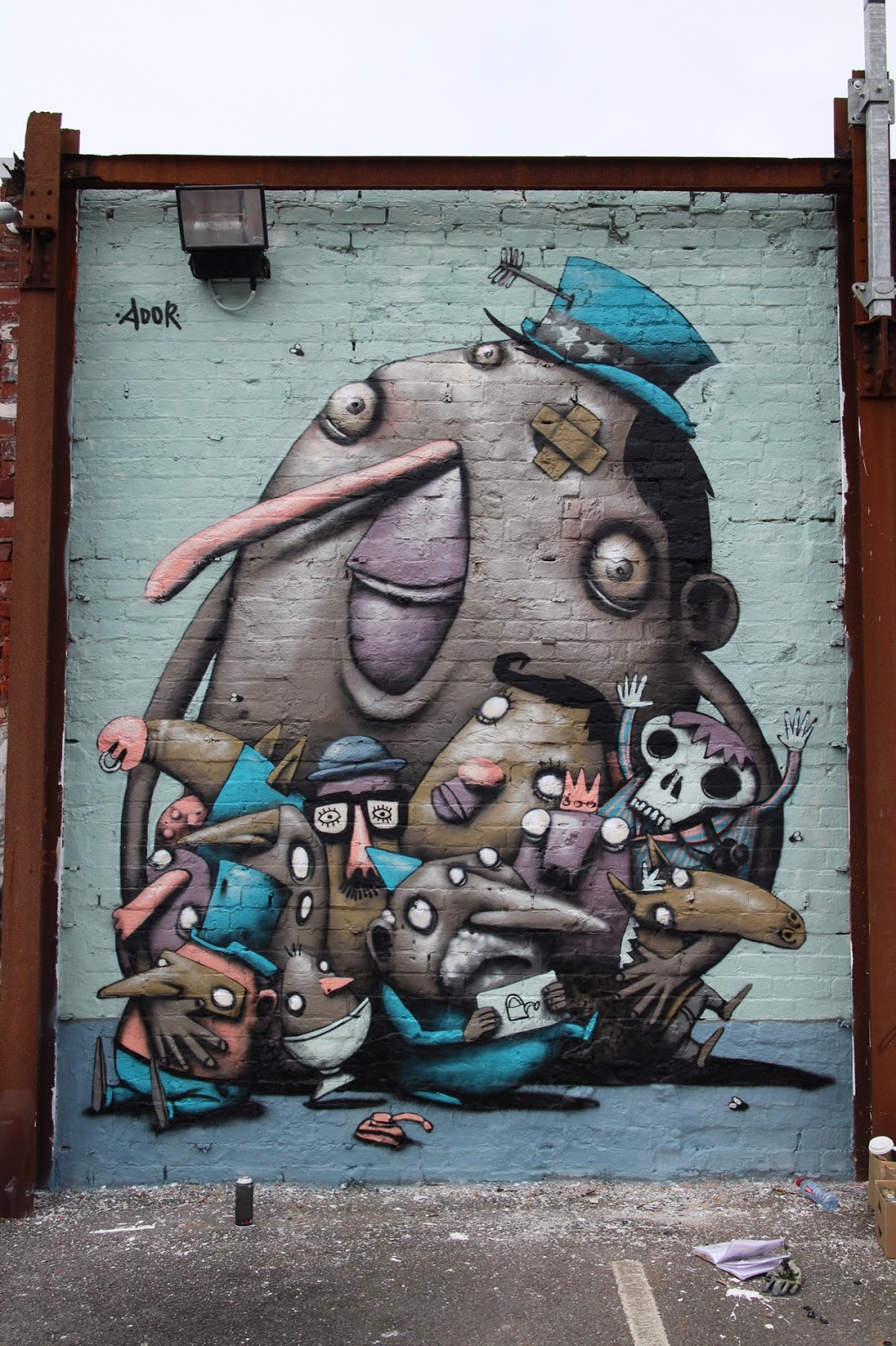 Fresh Ador paints new street pieces in Blackpool UK