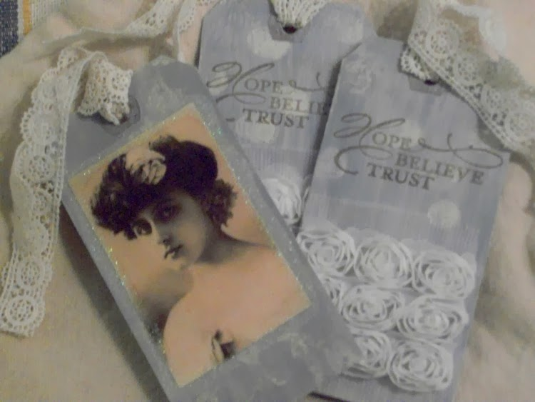 Tattered tags, Graphic fairy images, Vintage photos, organza roses