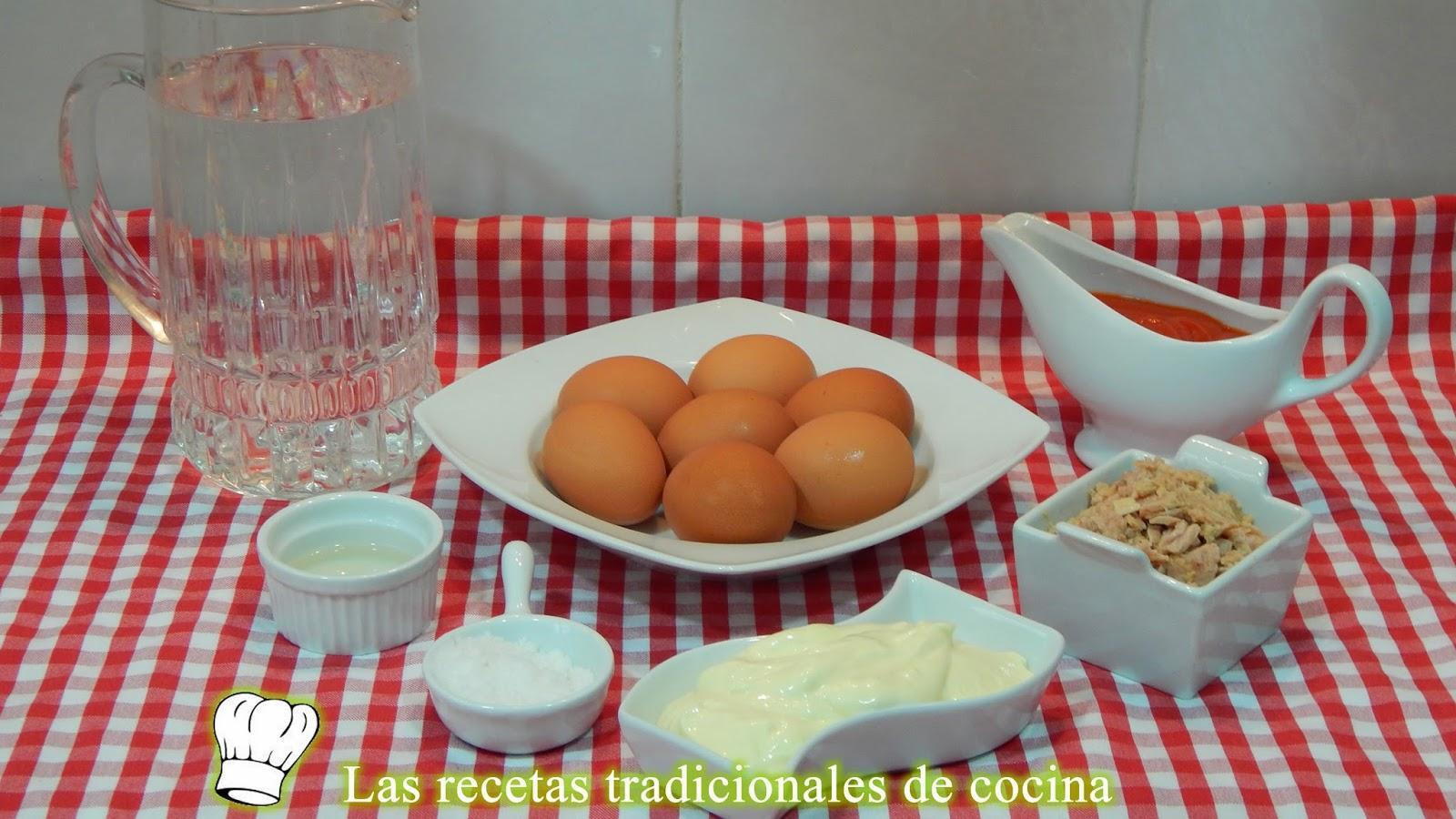 Receta fácil de huevos rellenos