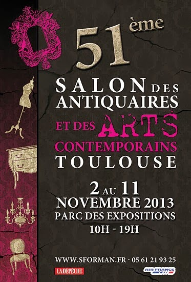 TOULOUSE : LUDOVIC LE FLOCH EXPOSE CAPTON AU SALON DES ANTIQUAIRES ET DES ARTS CONTEMPORAINS