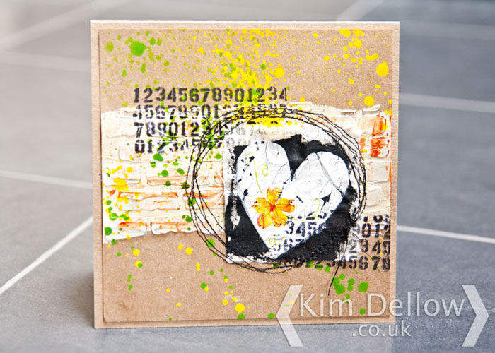 a card from old scraps