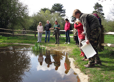 The group at Ray's Pond, Jubilee Country Park