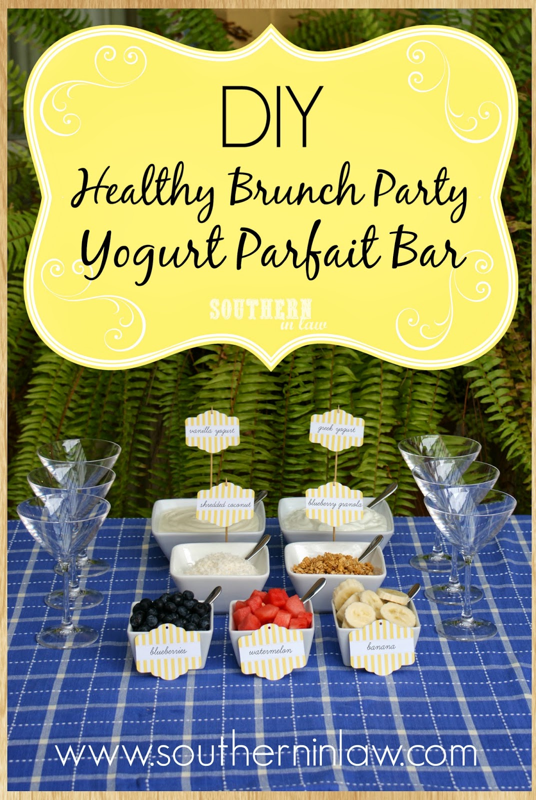 How to host your own healthy brunch party - DIY Yogurt Parfait Bar